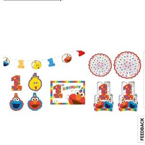 Other - 1st Birthday Elmo Room Decorating kit 10pc